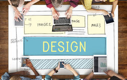 Концепция шаблона веб-дизайна HTML дизайна Стоковые Изображения RF
