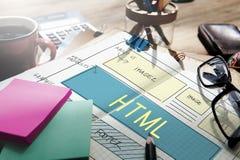 Концепция шаблона веб-дизайна HTML дизайна Стоковое Изображение