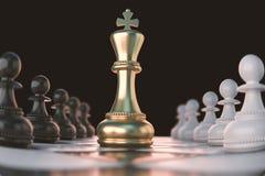 Концепция шахматной фигуры для конкуренции дела иллюстрация вектора