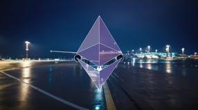 Концепция шифрования Ethereum стоковые фото