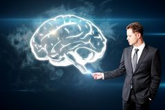 Концепция шторма и нововведения мозга Стоковое Фото