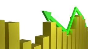 Концепция экономического роста и успеха в бизнесе иллюстрация штока
