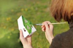 Концепция экологических домов Стоковые Изображения RF
