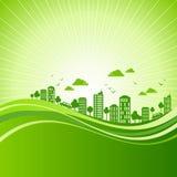 Концепция экологичности - земля спасения, иллюстрация иллюстрация вектора