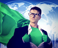 Концепция экологичности консервации супергероя зеленая экологическая Стоковые Фотографии RF