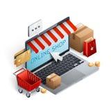 Концепция электронной коммерции покупок Стоковое Изображение