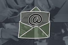 Концепция электронной почты стоковое фото