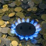 Концепция энергетического кризиса Высокие цены для природного газа стоковые изображения rf