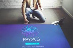 Концепция энергии атома науки исследования физики Стоковые Изображения RF