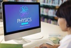 Концепция энергии атома науки исследования физики Стоковое фото RF