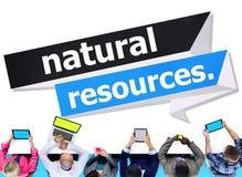 Концепция энергии земли природных ресурсов экологическая иллюстрация штока