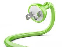 Концепция энергии Eco. электрическая штепсельная вилка Стоковое Изображение