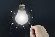 Концепция электрической лампочки идеи Стоковая Фотография RF