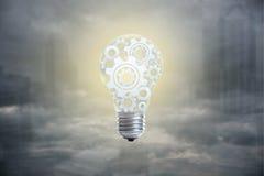 Концепция электрической лампочки для отличной идеи, нововведения и воодушевленности стоковые изображения