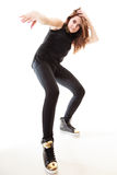 Концепция людей - девочка-подросток в вскользь одеждах Стоковое Изображение RF