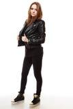 Концепция людей - девочка-подросток в вскользь одеждах Стоковые Изображения RF