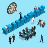 Концепция для бизнесменов сыгранности, человеческих ресурсов иллюстрация вектора