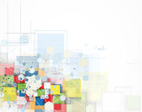 Концепция для корпоративного бизнеса & развития новой технологии Стоковое фото RF