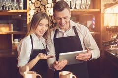 Концепция для профессионального barista в кофейне Стоковая Фотография