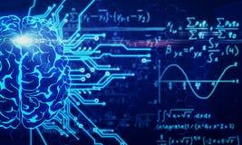Концепция AI и математики стоковая фотография