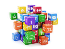 Концепция app программного обеспечения Стоковые Изображения