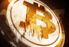 Концепция Bitcoin Cryptocurrency Стоковая Фотография