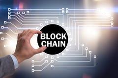 Концепция blockchain в современном деле стоковое фото