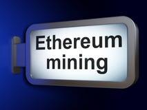 Концепция Blockchain: Минирование Ethereum на предпосылке афиши