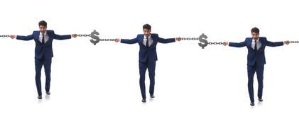 Концепция blockchain при бизнесмены держа руки Стоковое Изображение