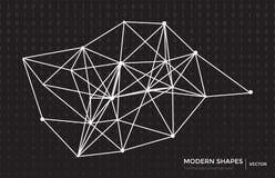 Концепция blockchain сети цепи вектора абстрактная Стоковая Фотография RF