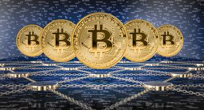 Концепция Blockchain иллюстрация штока