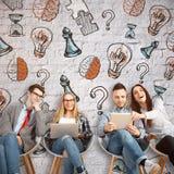 Концепция Brainstorning Стоковая Фотография RF