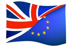 Концепция Brexit с флагом Великобритании Юниона Джек и флагом Европейско иллюстрация штока