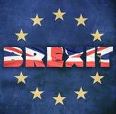 Концепция Brexit Стоковые Фото