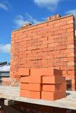 Концепция Bricklaying Кирпичная стена, Bricklaying, кирпичная кладка Стоковые Изображения