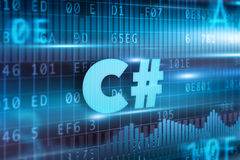 Концепция C# Стоковые Изображения