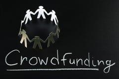 Концепция Crowdfunding стоковые изображения rf
