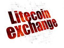 Концепция Cryptocurrency: Обмен Litecoin на предпосылке цифров
