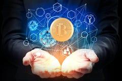 Концепция Cryptocurrency стоковые фотографии rf
