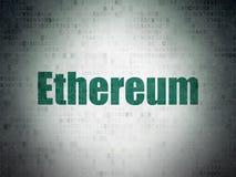 Концепция Cryptocurrency: Ethereum на предпосылке бумаги цифровых данных