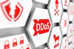 Концепция DDoS иллюстрация штока