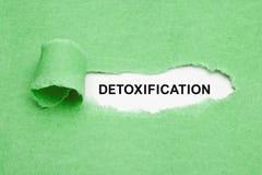 Концепция Detoxification зеленая сорванная бумажная стоковые фотографии rf