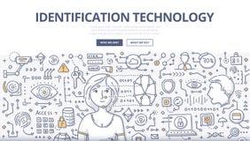 Концепция Doodle технологии идентификации иллюстрация штока