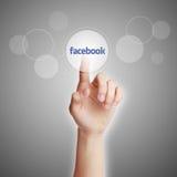 Концепция Facebook иллюстрация штока