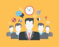 Концепция HR человеческих отношений плоской сети стиля современной infographic Стоковые Фото