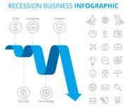 Концепция Infographic дела рецессии Стоковое фото RF