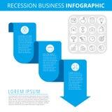 Концепция Infographic дела рецессии Стоковое Фото