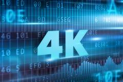 концепция 4K Стоковая Фотография RF