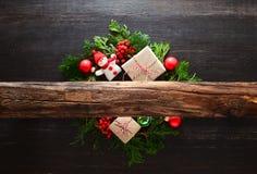 Концепция Noel или рождества деревенская стоковое изображение
