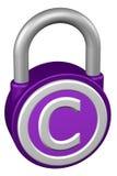 Концепция: padlock с авторским правом знака перевод 3d бесплатная иллюстрация